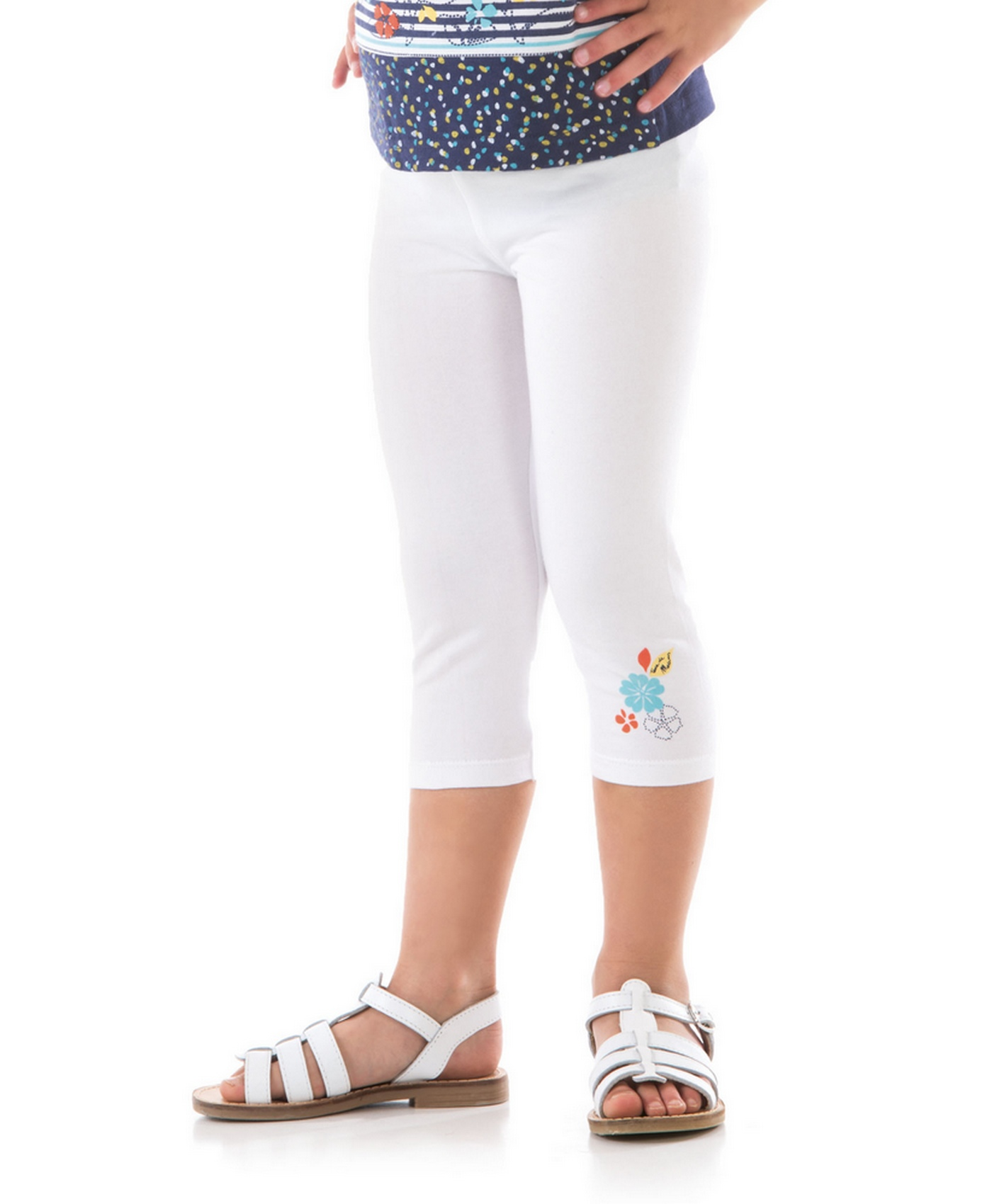 legging fille blanc optique pantalon pantacourt legging mode enfant fille terre de marins. Black Bedroom Furniture Sets. Home Design Ideas