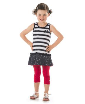 legging fille rouge orang pantalon pantacourt legging mode enfant fille terre de marins. Black Bedroom Furniture Sets. Home Design Ideas